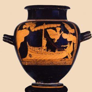 Odysseus am Mast gefesselt
